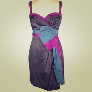 New gorgeous Marc Jacobs silk bow wrap dress
